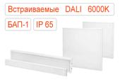 Встраиваемые офисные светодиодные светильники DALI-BAP-1 IP65 Холодные