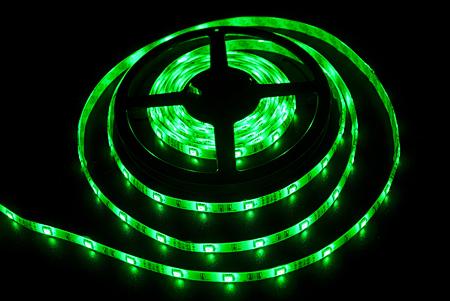 Светодиодная лента LEDcraft SMD 5050 7.2 Ватт на метр 30 диодов на метр IP 65 Зеленый