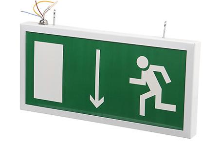 Светодиодный аварийный указатель LC-SIP-E20-3015-BAP дверь (левая) 330х180 мм
