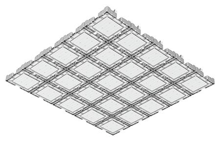 Туннельный модульный светильник LC-TMS-125125-1500W-W 125*150 См Холодный белый
