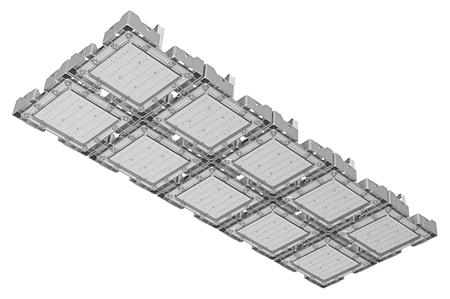 Туннельный модульный светильник  LC-TMS-50125-300W-W 50*125 См Теплый белый