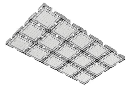 Туннельный модульный светильник  LC-TMS-75125-450W-W 75*125 См Теплый белый