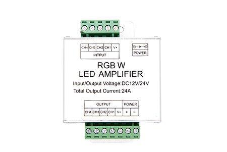 Усилитель для RGBW контроллера, 4 канала, 12/24V, 6А/канал