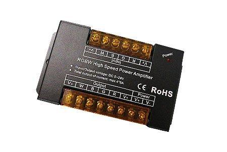 Усилитель для RGBW контроллера, 4 канала, 12/24V, 8А/канал