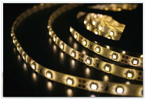 Светодиодная лента LEDcraft SMD 3528 4,8 Ватт на метр 60 диодов на метр IP 65 Желтый