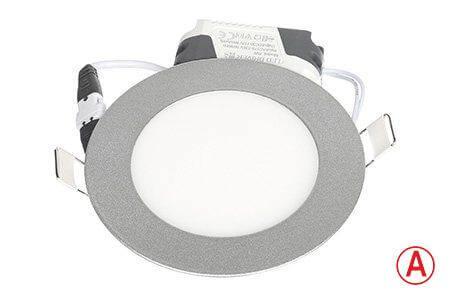 LEDcraft Downlight Серый Круглый 120*120*23 7 Ватт Теплый белый с БАП