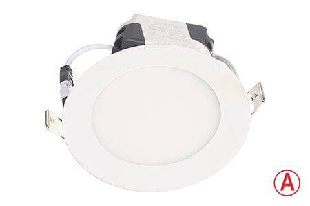 LEDcraft Downlight Белый Круглый 120*120*23 7 Ватт Холодный белый с БАП