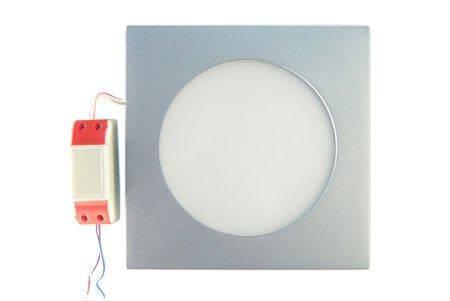 LEDcraft Downlight Серый Квадратный 180*180*23 10 Ватт Теплый белый