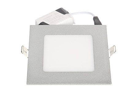 LEDcraft Downlight Серый Квадратный 120*120*23 7 Ватт Теплый белый