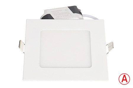 LEDcraft Downlight Белый Квадратный 120*120*23 7 Ватт Теплый белый с БАП