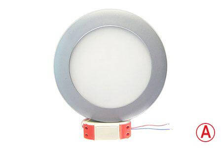 LEDcraft Downlight Серый Круглый 170*170*23 12 Ватт Холодный белый с БАП