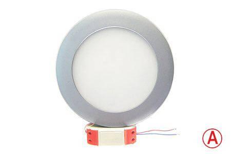 LEDcraft Downlight Серый Круглый 170*170*23 12 Ватт Теплый белый с БАП