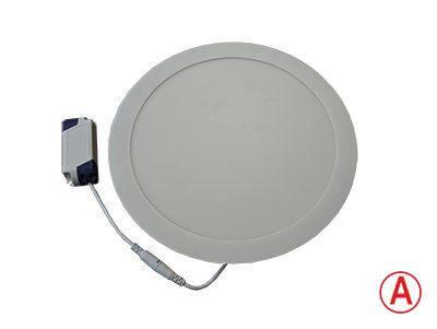 LEDcraft Downlight Серый Круглый 300*300*23 24 Ватт Теплый белый с БАП