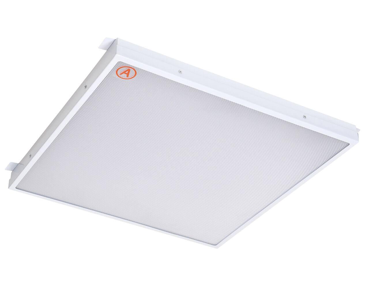 Встраиваемый светильник LC-GIP-40 580x580 Теплый белый Призма с Бап-3 часа