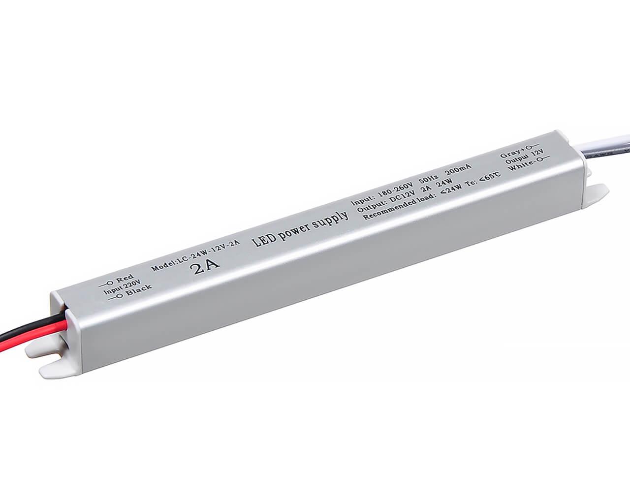 Блок питания LC-K25W-12V 2А (карандаш 172*18*18)