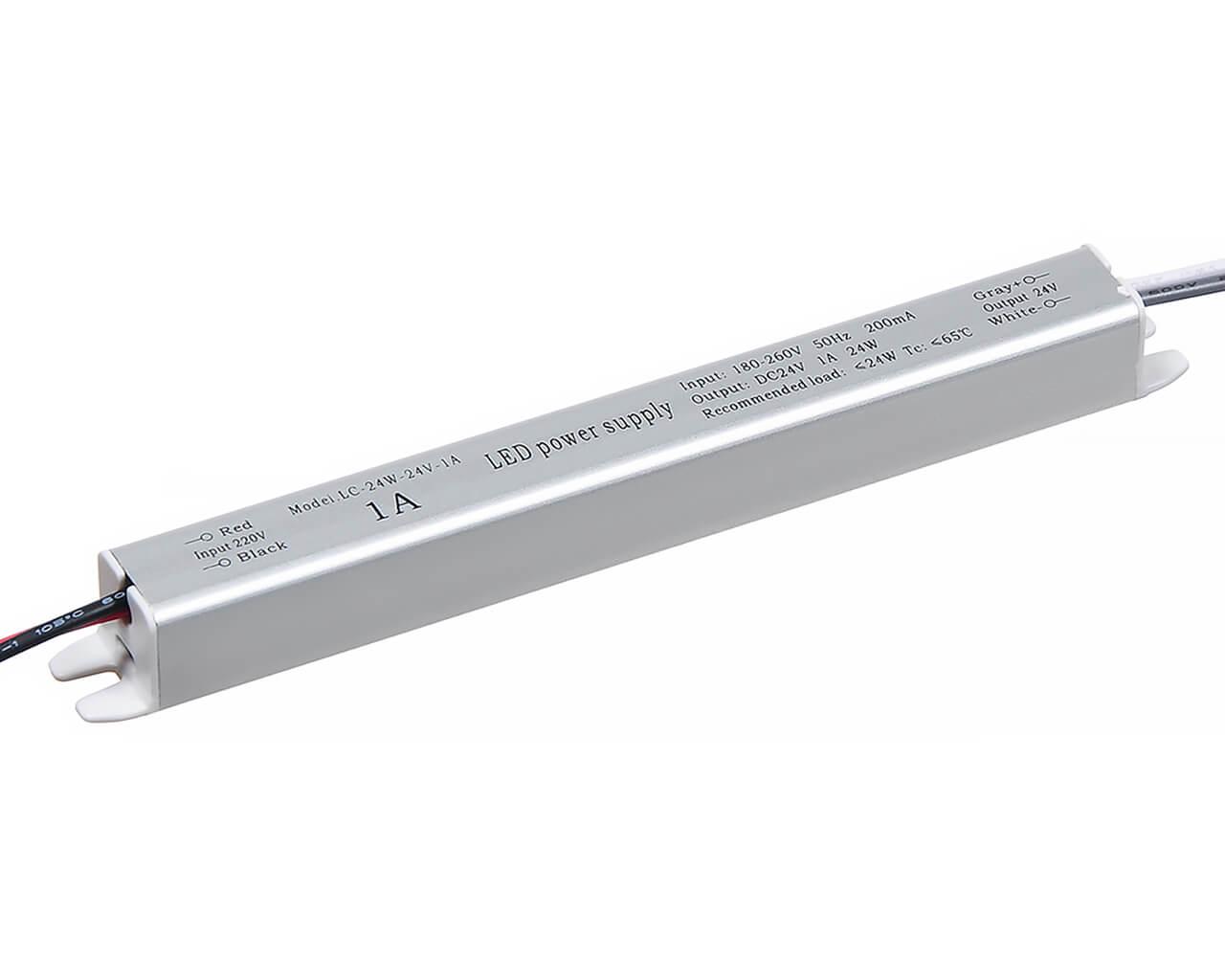 Блок питания LC-K25W-24V 1А (карандаш 172*18*18)