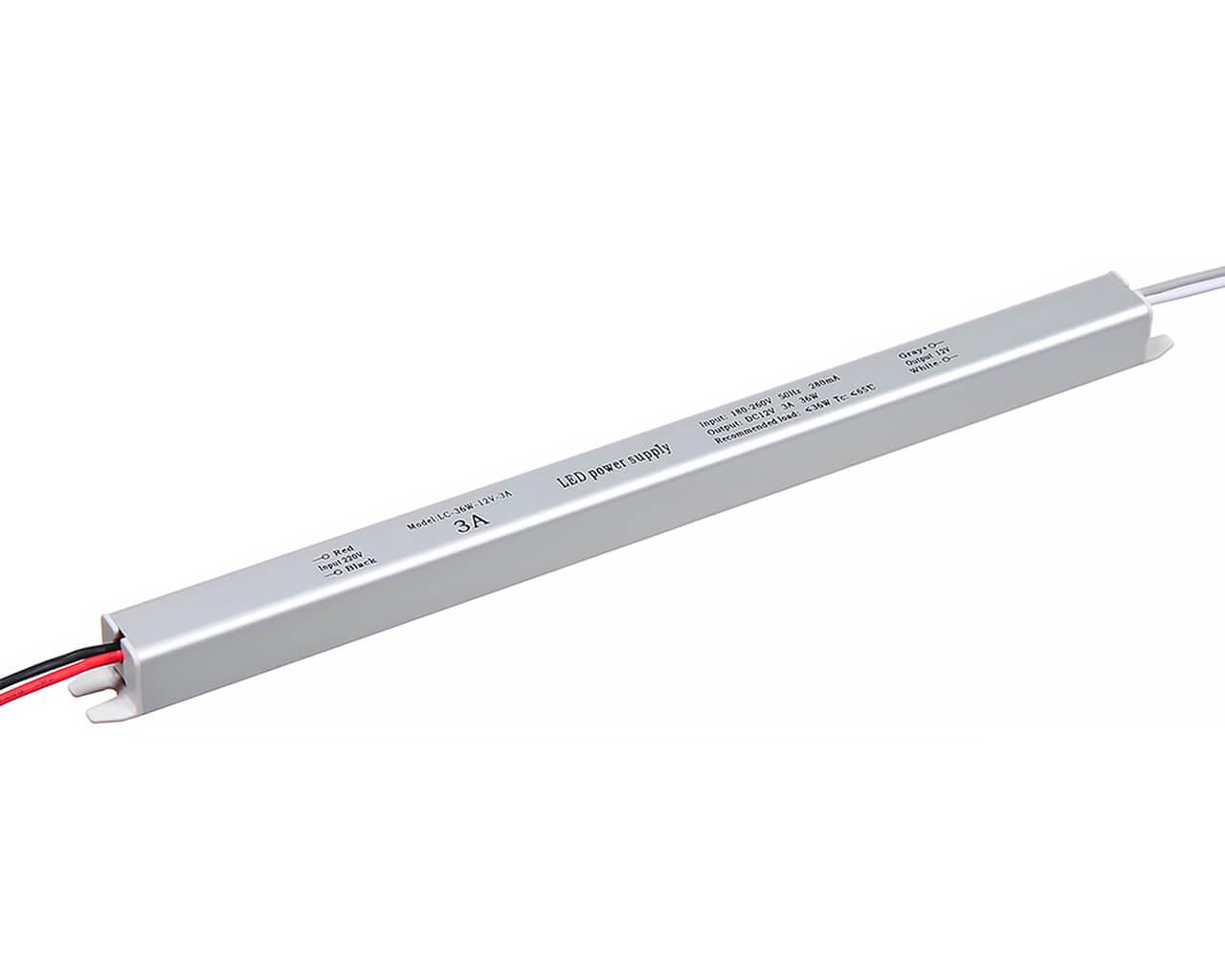 Блок питания LC-K35W-12V 3А (карандаш 282*18*18)