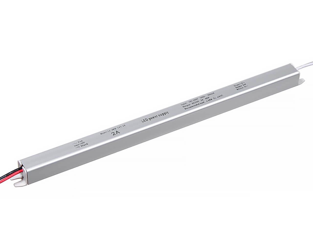 Блок питания LC-K50W-24V 2А (карандаш 312*18*18)