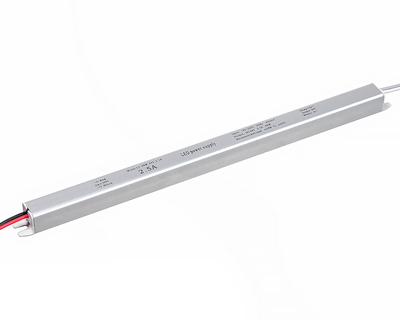 Блок питания LC-K60W-24V 2,5А (карандаш 312*18*18)