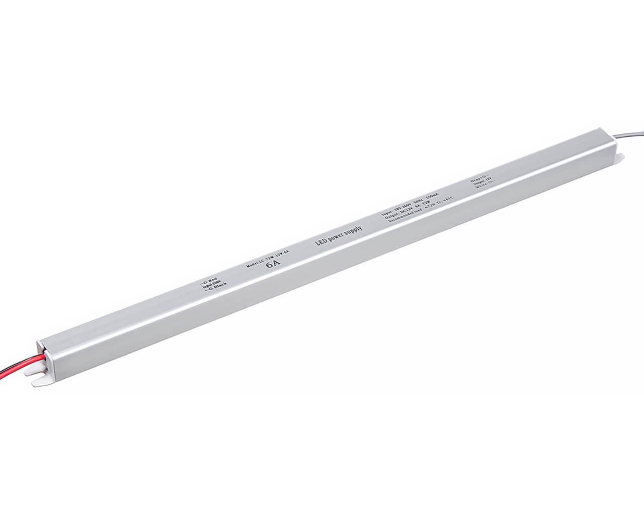 Блок питания LC-K72W-12V 6А (карандаш 372*18*18)