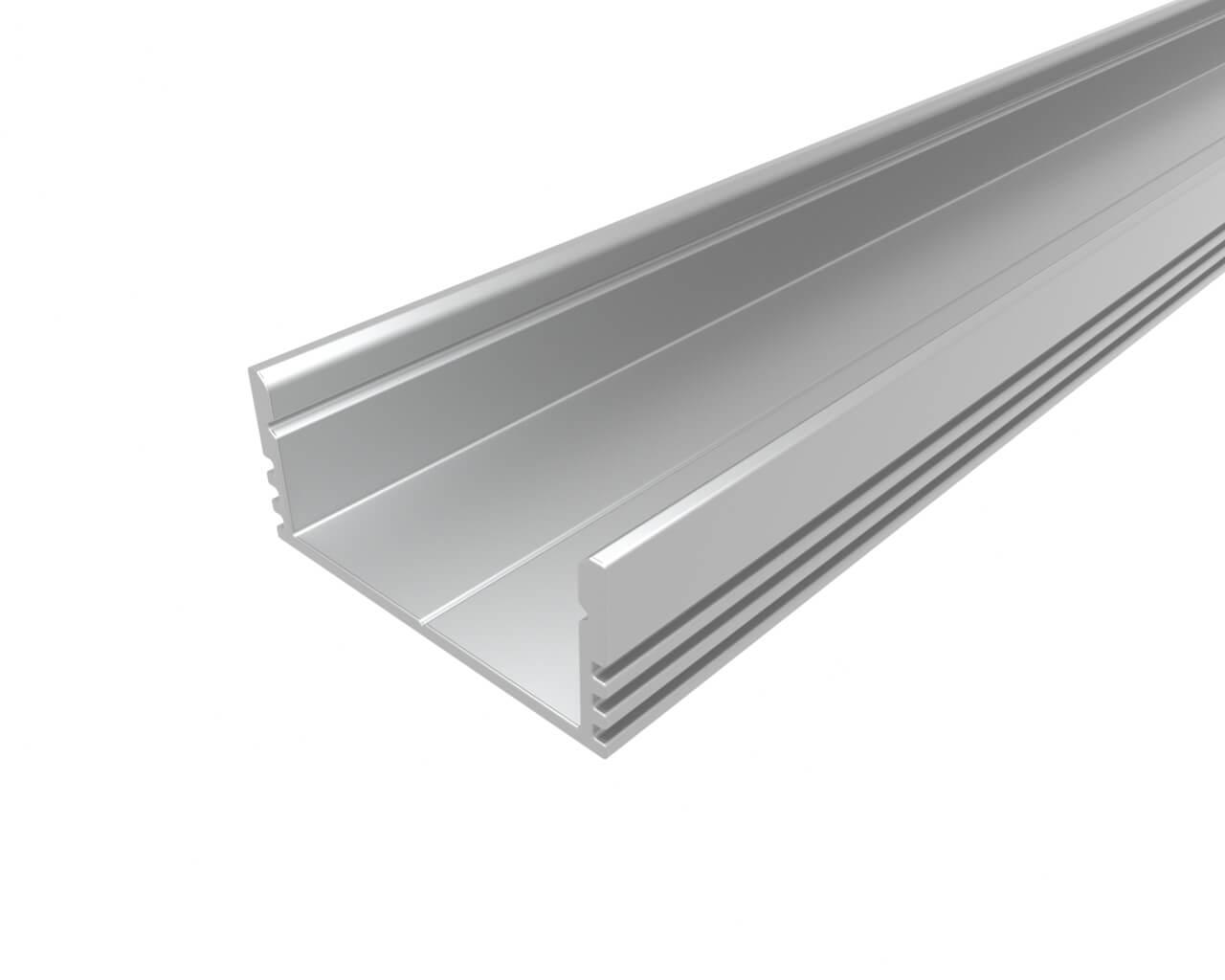 Профиль накладной широкий алюминиевый LC-LP-1228-2 Anod