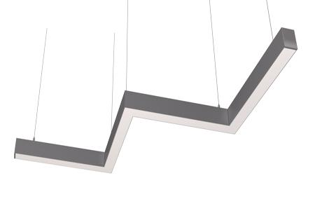Светодиодный светильник змейка 3 колена Ledcraft LC-LP-6735 160W 2370 мм Опал Теплый белый