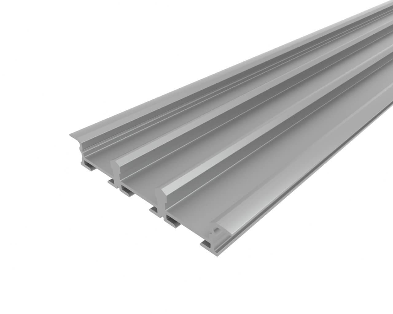 Профиль врезной алюминиевый тройной LC-LPV-0956-2 Anod