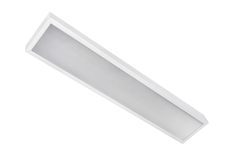 Накладной офисный светодиодный светильник узкий 10 Вт 595x110 3000К IP20 Призма