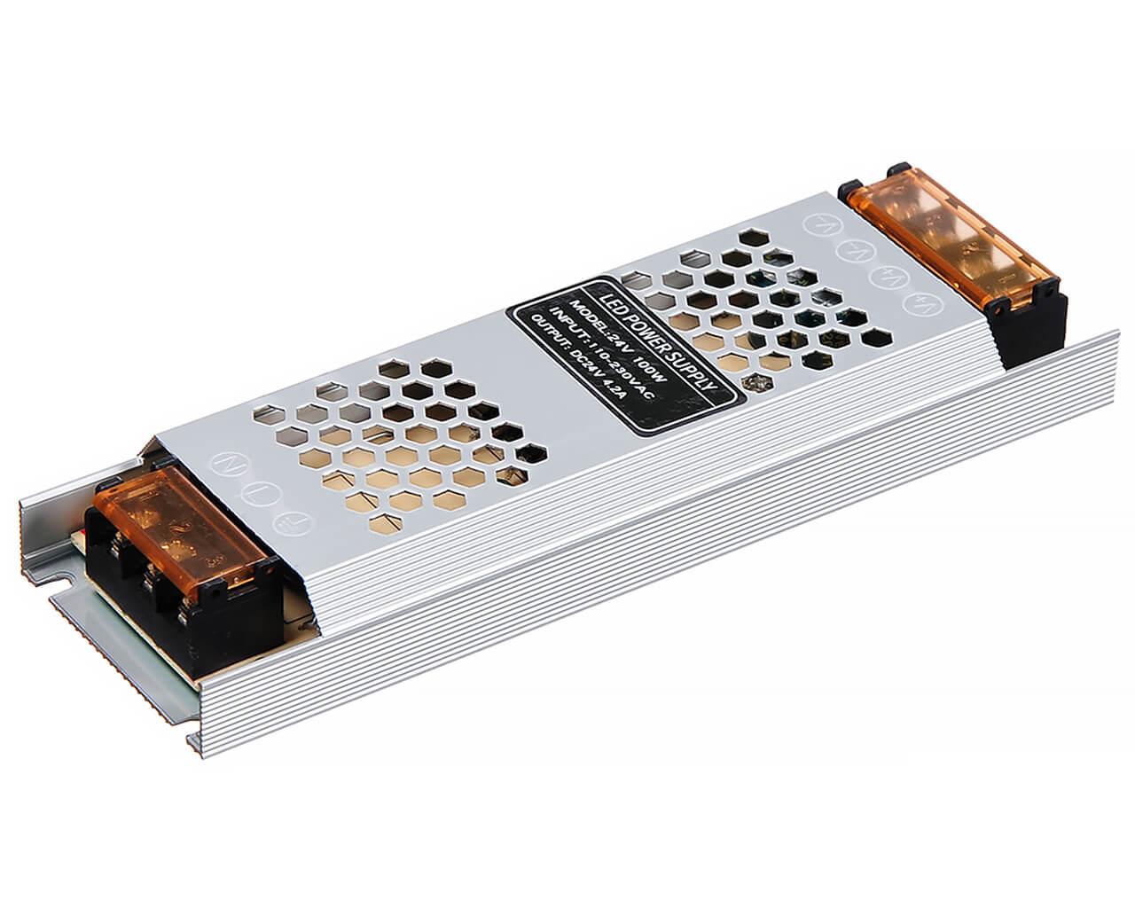 Блок питания LC-N100W-24V 4,16А (тонкий 188*46*36)
