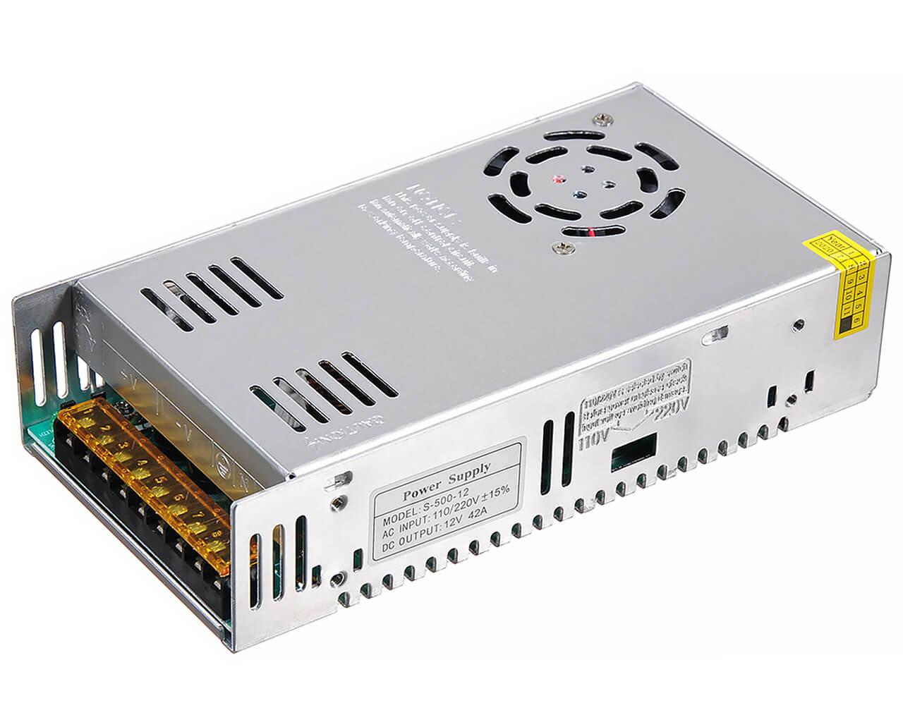 Блок питания LC-N500W-12V 40 А с вентилятором (тонкий 319*80*60)