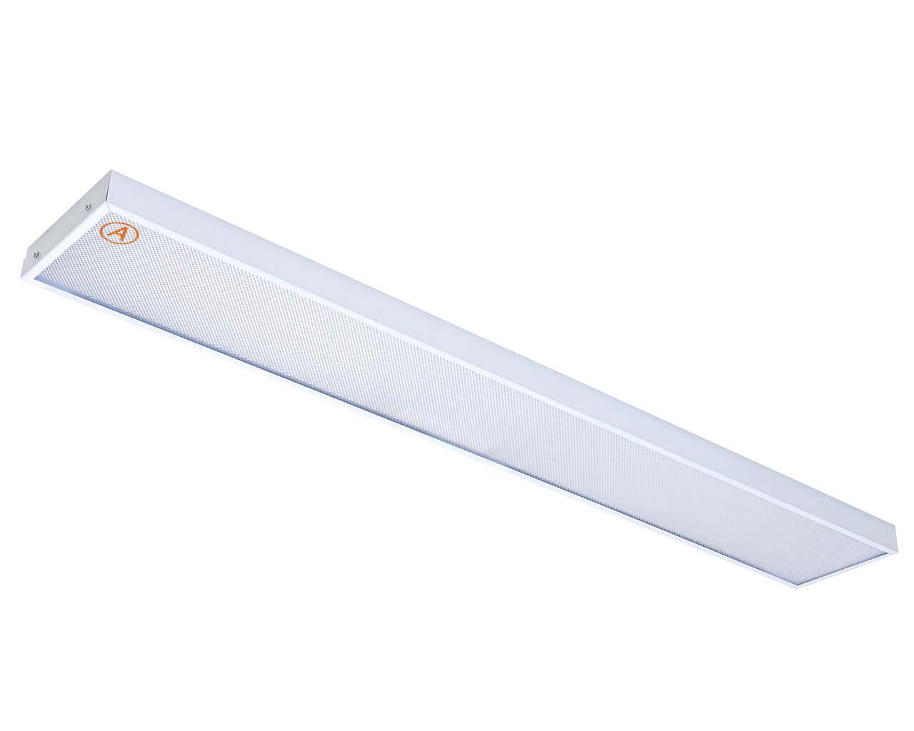 Накладной светильник LC-NS-40 ватт 1195x180 Теплый белый Призма с Бап-3 часа