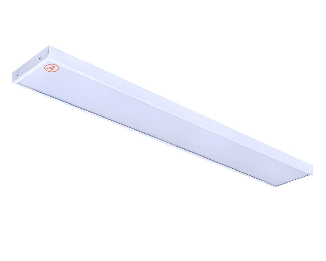 Накладной светильник LC-NS-80-OP-WW ватт 1195x180 Теплый белый Опал с Бап-3 часа