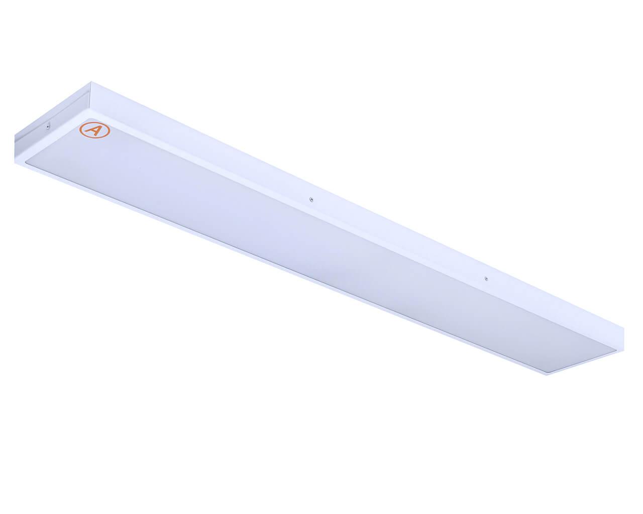 Накладной светильник LC-NS-SIP-40-OP 1195x180 IP65 Теплый белый Опал с Бап 3 часа