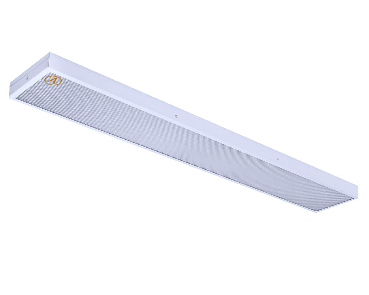 Накладной светильник LC-NS-SIP-40 1195x180 IP65 Теплый белый Призма с Бап 3 часа