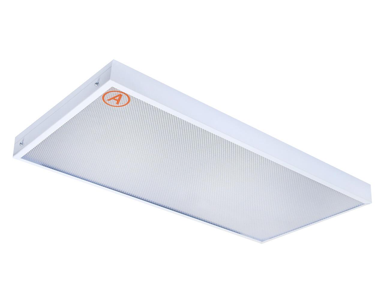 Накладной светильник LC-NSM-40K ватт 595x295 Теплый белый Призма Бап 3 часа