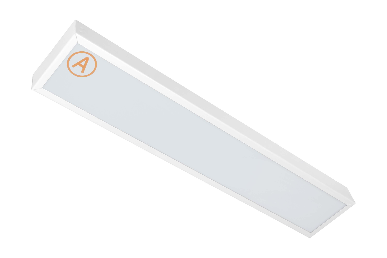 Накладной светильник узкий LC-NSU-10 ватт 595x110 Теплый белый Опал с Бап-3 часа