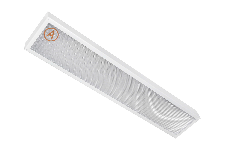 Накладной светильник узкий LC-NSU-10 ватт 595x110 Теплый белый Призма с Бап-3 часа
