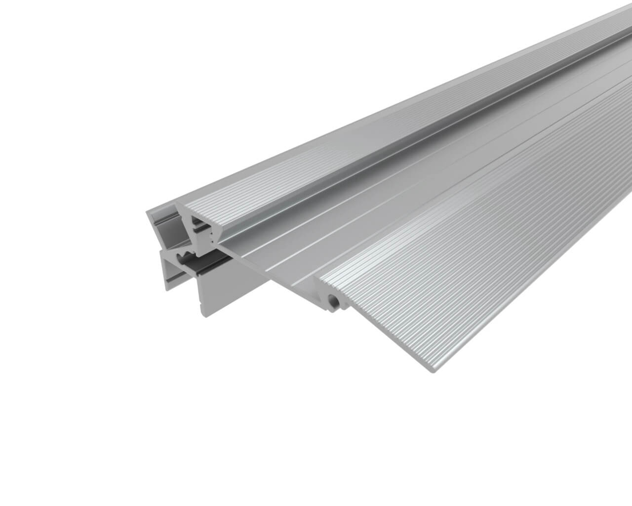 Профиль алюминиевый для ступеней без резиновой вставки LC-PDS-2879-2 Anod