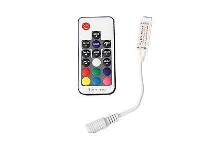RGB RF17K мини контроллер LEDcraft 17 кнопок 5/12/24v 30/72/144w 2А