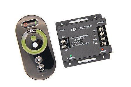 Сенсорный CCT контроллер для MIX White 12/24v 144/288w 2 канала 6А