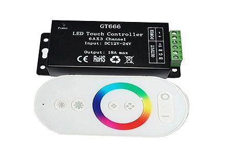 RGB RF6K Сенсорный контролер LEDcraft с функцией диммирования 6 кнопок 12/24v 216/432w 6А