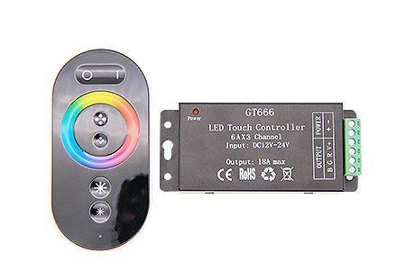 RGB RF8K Сенсорный контролер LEDcraft с функцией диммирования 8 кнопок 12/24v 216/432w 6А