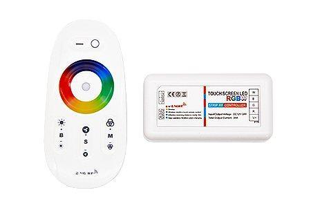RGBW 2.4G RF8K Сенсорный контролер LEDcraft с функцией диммирования 8 кнопок 12/24v 216/432w 6А