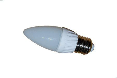 Светодиодная лампа LEDcraft Колба свеча Е27 5 Ватта Холодный белый
