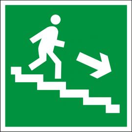 Светодиодный эвакуационный указатель LC-SIP-E05-2020 Направление к выходу по лестнице вниз (направо)