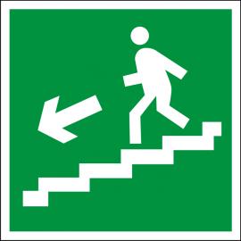 Светодиодный аварийный указатель LC-SIP-E06-2020-BAP Направление к выходу по лестнице вниз (налево)