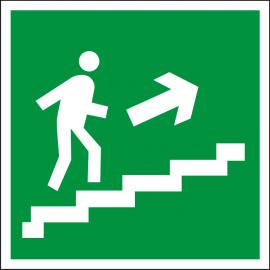 Светодиодный аварийный указатель LC-SIP-E07-2020-BAP Направление к выходу по лестнице вверх (направо