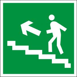 Светодиодный аварийный указатель LC-SIP-E08-2020-BAP Направление к выходу по лестнице вверх (налево)