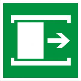 Светодиодный эвакуационный указатель LC-SIP-E11-2020 Для открывания сдвинуть 200х200 мм