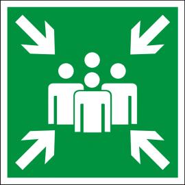 Светодиодный эвакуационный указатель LC-SIP-E12-2020 Пункт (место) сбора 200х200 мм